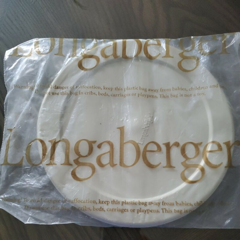 "New in Bag Longaberger 8"" American Work Basket Plastic Protector Lid Only"