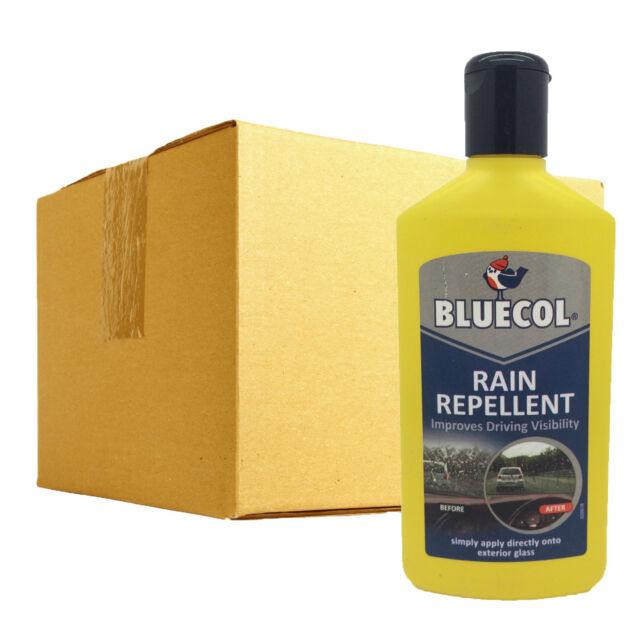 6 x Bluecol Rain Water Repellent Glass Treatment Improves Windscreen Visibility