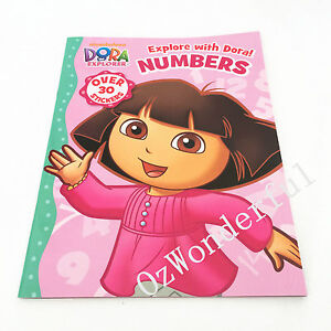 Dora The Explorer Explore With Dora Numbers Sticker Colouring Activities Book