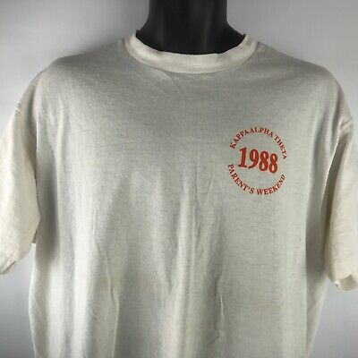 Vintage Kappa Alpha Theta T Shirt Parents Weekend 1988 Houston Texas SZ XL