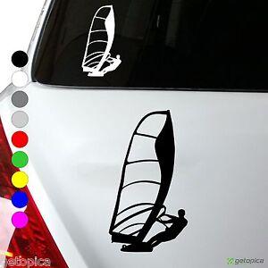 WINDSURFER Aufkleber SURFBRETT Autoaufkleber SURF 16 x 9 cm viele Farben