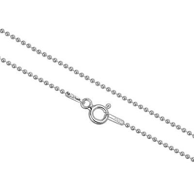 Ball Chain Jewelry Necklaces (1.2mm Sterling Silver Ball Chain Necklace, Anklet Or Bracelet In 7 - 36 Inches )