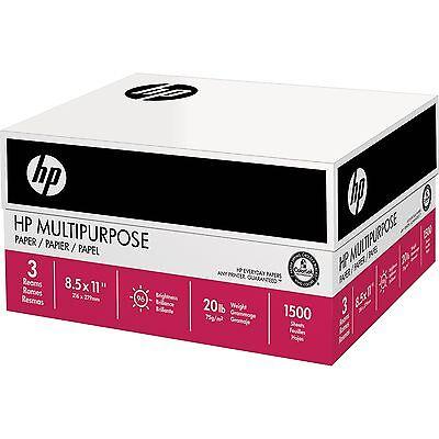 HP Multipurpose Ultra White Paper Letter 20lb 96-Bright 1500ct
