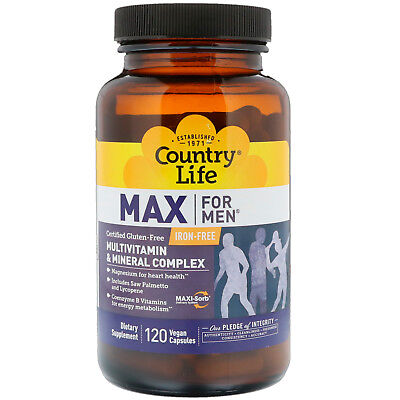 Country Life Max for Men , 120-Count