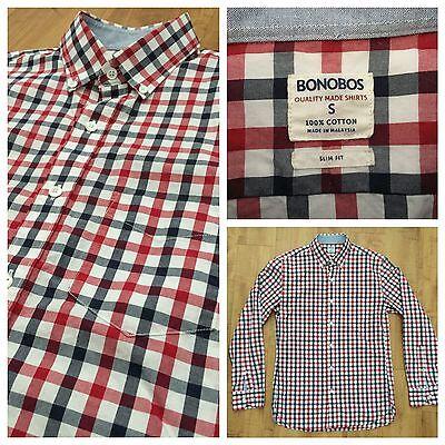Men's Bonobos Slim Fit Button Front Shirt, Sz Small