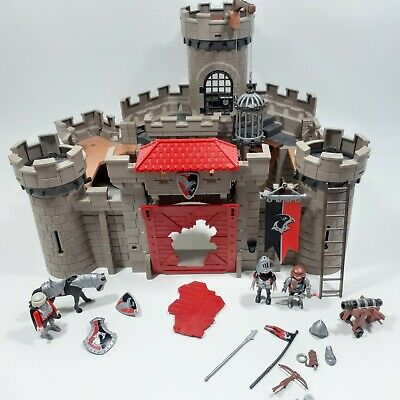 PLAYMOBIL 6001 HAWK KNIGHTS CASTLE DUNGEON MEDIEVAL HANGING CAGE FIGURES