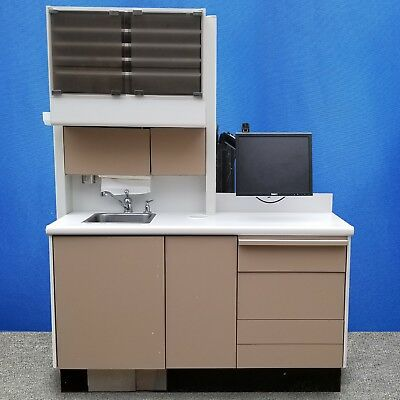 Healthco Wall-mount Side Cabinet W Sink Monitor Dental Cabinet Model A-3
