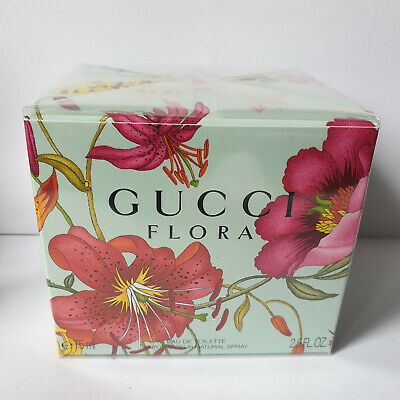 GUCCI FLORA 75ml EDT SPRAY FOR WOMEN NEW AND SEALED