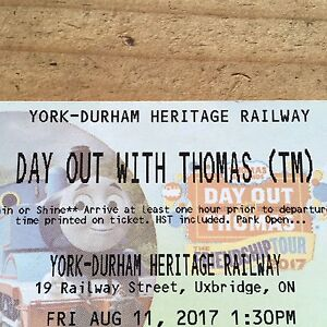 6 tickets to ride on a real Thomas train