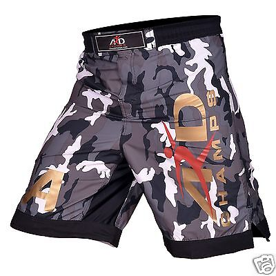 ARD CHAMPS™ Camo Pro MMA Fight Shorts  Grey Camouflage UFC Cage Fight Grappling Gray Fight Shorts