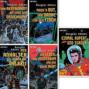 Anhalter Saga  Band 1,2,3,4,5 von Douglas Adams  NEU