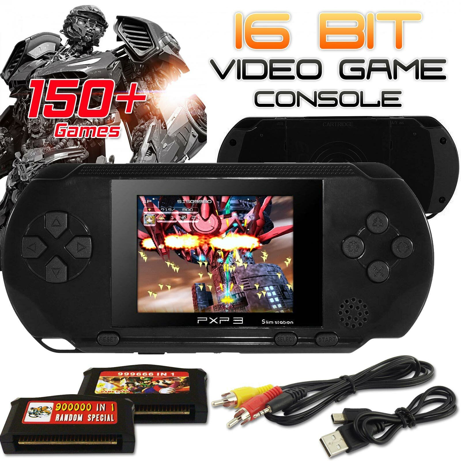 US STOCK PXP3 Game Console Handheld Portable 16 Bit Retro Video Free Games Gift