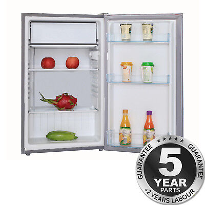 SIA LFSI01SV 49cm Free Standing Under Counter Fridge In Silver With Ice Box