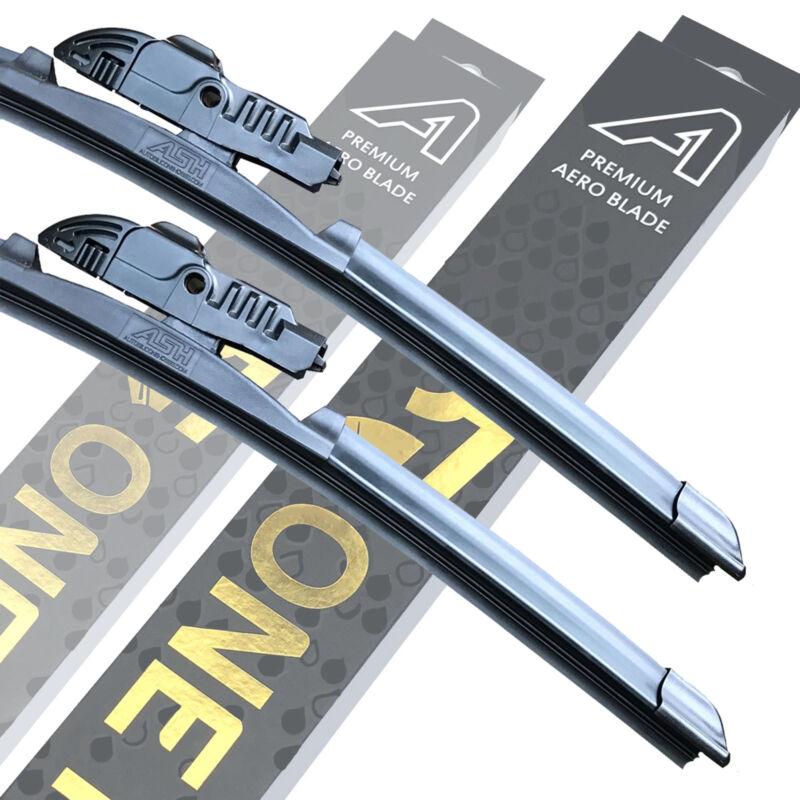 Front Premium Aero Wiper Blades - Pair Windscreen Window 24