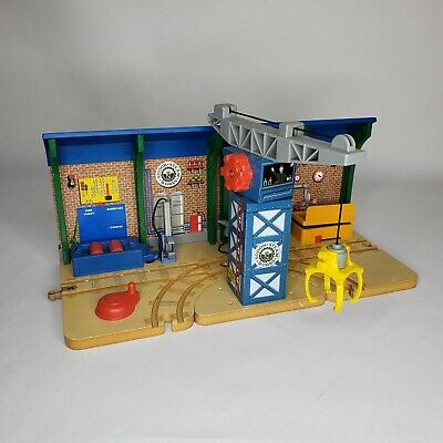 RARE Thomas & Friends Wooden Repair and Go Station at Sodor Steamworks complete