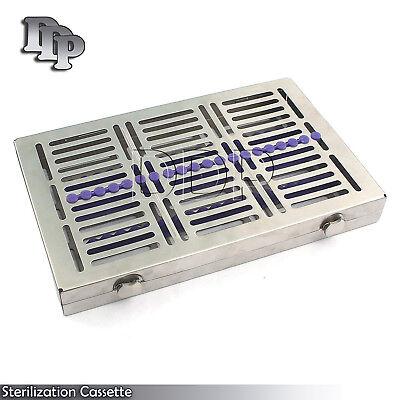 Dental 20 Instruments Sterilization Cassette Tray Racks Turn Lock St-002