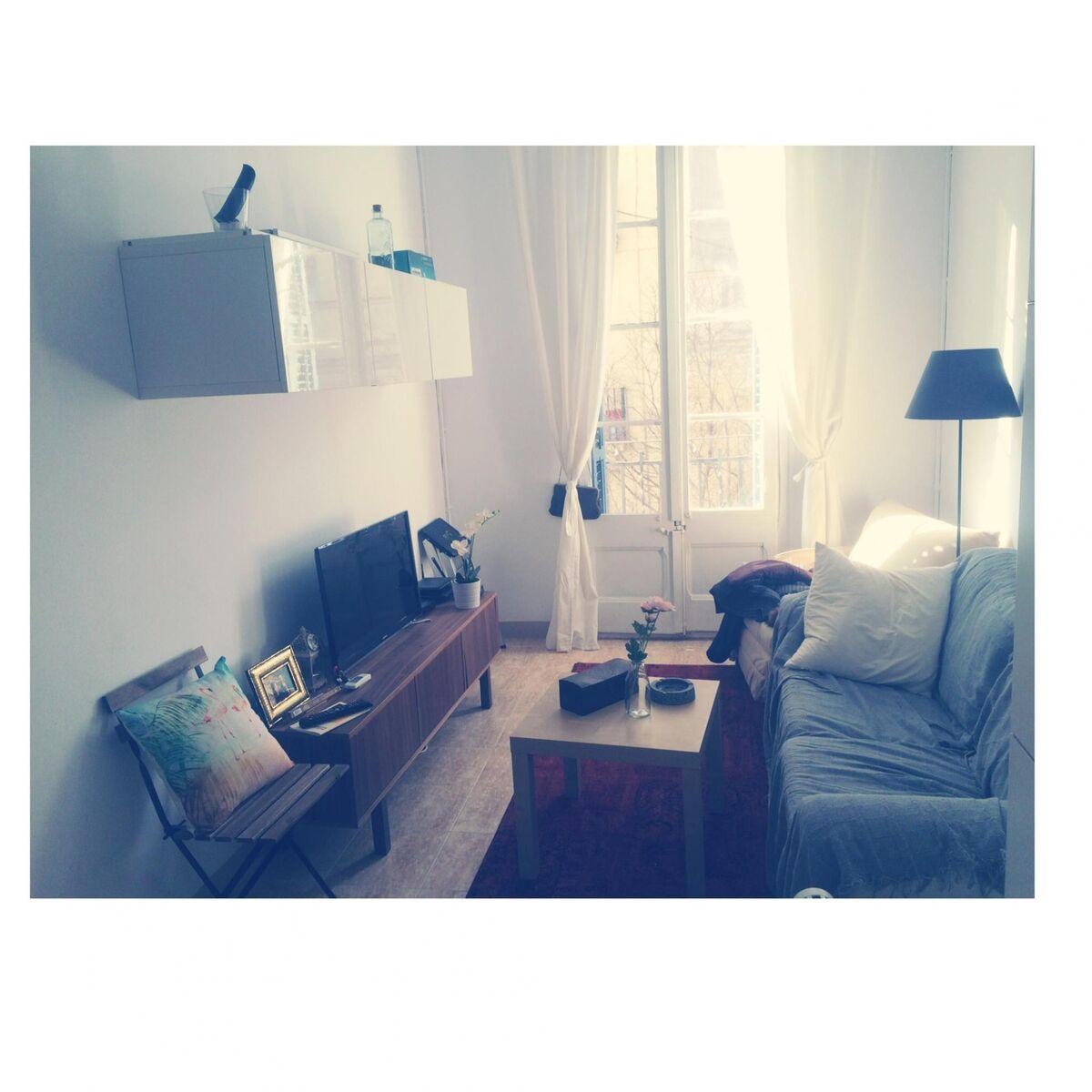 Mueble de salon blanco para colgar barcelona muebles for Compra muebles barcelona