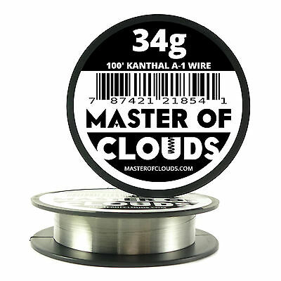 100 Ft - 34 Gauge Awg A1 Kanthal Round Wire 0.16 Mm Resistance A-1 34g Ga 100