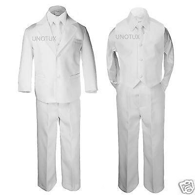 NEW TODDLER & BOY WEDDING 1ST COMMUNION PARTY FORMAL TUXEDO SUIT WHITE SZ: S-20 (1st Communion Suits)
