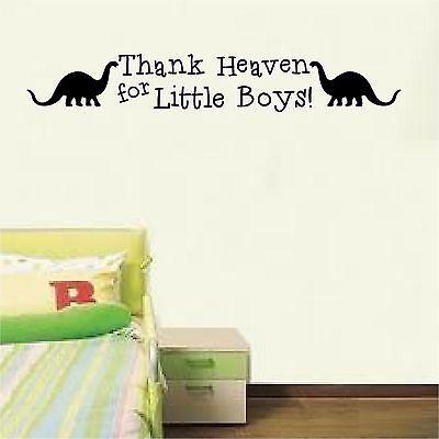 - Thank Heaven for little boys dinosaur wall decor decal nursery vinyl art sticker