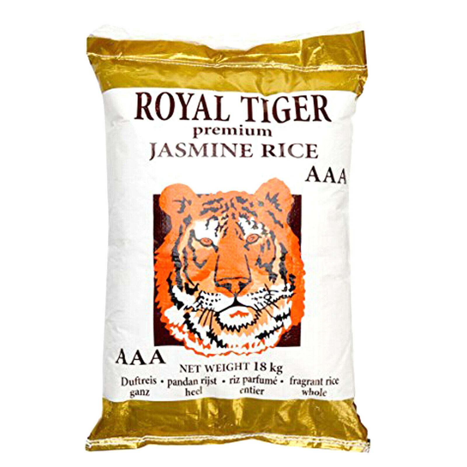 18 kg Royal Tiger Duftreis Jasminreis Premium Qualität AAA Reis Jasmin Reis ganz