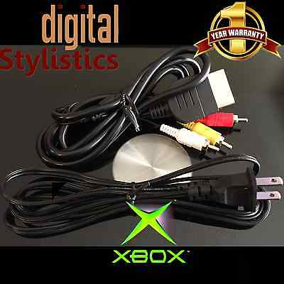 AV Cable & AC Power Cord (NEW) XBOX Original (A/V Audio Video, Adapter Supply)  for sale  Shipping to South Africa