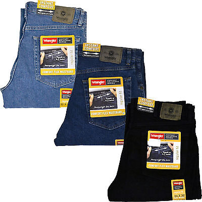 itm jean regular comfort new performance mens waistband wrangler comforter ebay series s flex fit