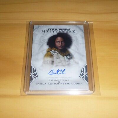 2018 Star Wars Masterwork - Autograph Card - Crystal Clarke as Ensign Goode