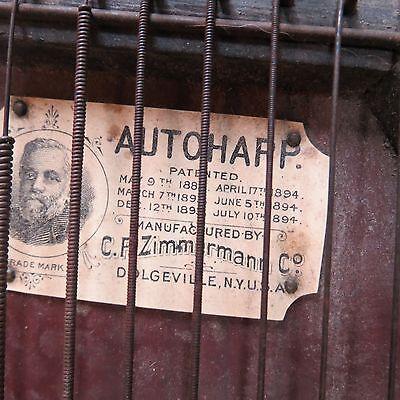 Vintage C.F. Zimmerman Pat. 1882-1894 Autoharp (lot#8768)