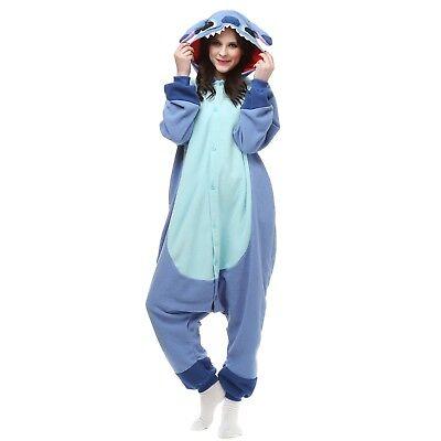 Kigurumi Onesi9 Stitch Outfit Cosplay Costume Pajamas Pink Blue Unisex Jumpsuit - Stitch Costume