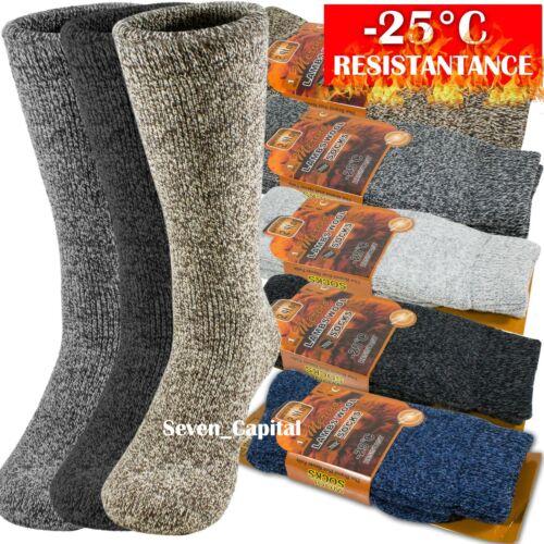 3 Pairs Mens Winter Heavy Duty Warm Thermal Merino Lambs Wool Boots Socks 10-13