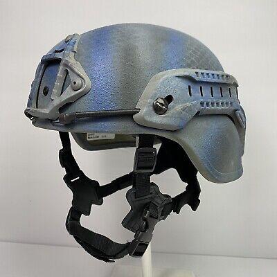 Small US Military Ballistic Advanced Combat Helmet ACH MICH IIIA Blue Snake Skin