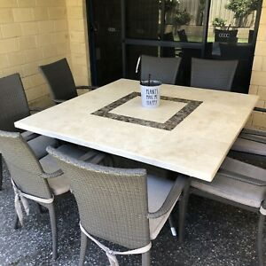 Marble Table & 8 Chairs