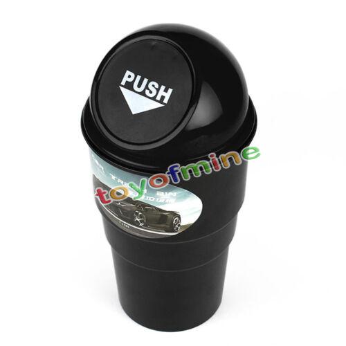 Copertura in plastica nero Home Auto Posacenere cestino spazzatura Contenitore C