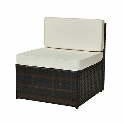 Garden Furniture - Luxurious Rattan Modular Corner Set Garden Conservatory Furniture Aluminium