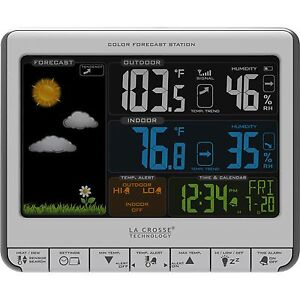 K84315 La Crosse Technology Wireless Color Forecast Weather Station USB Charging