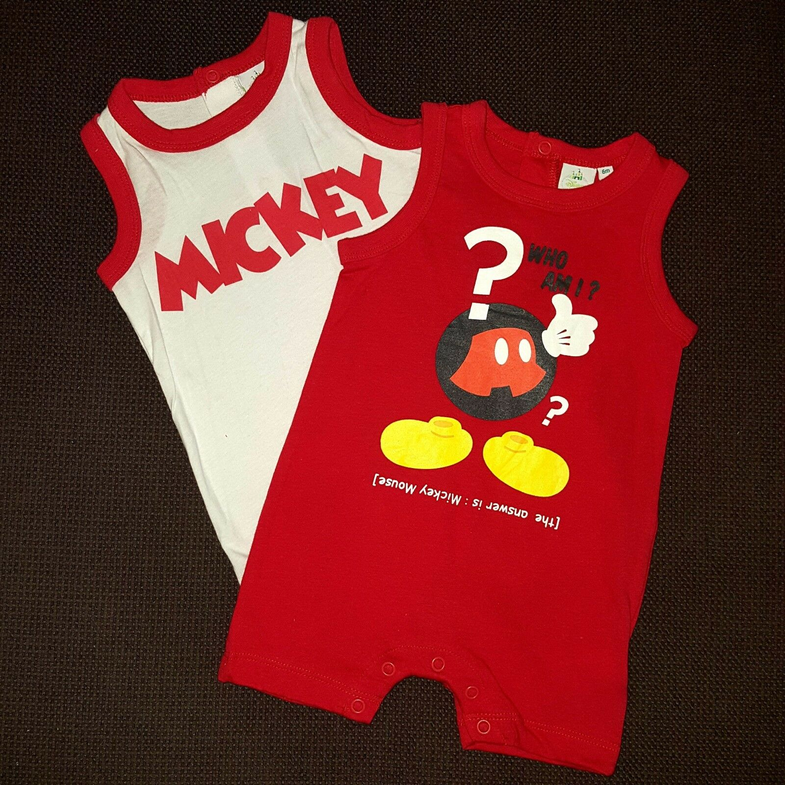 Lot de 2 barboteuses MICKEY