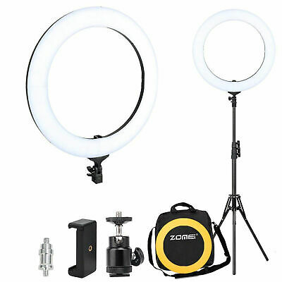 """14"""" LED Ring Light with Stand Dimmable for Makeup live Phone Camera Selfie video"""