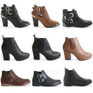 WOMENS-LADIES-FLAT-HIGH-HEEL-ELASTICATED-CUT-OUT-ANKLE-CHELSEA-BOOTS-SHOES-SIZE