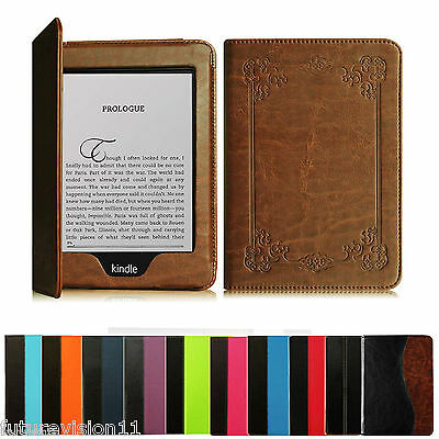 """2012 2013 2014 2015 All-New Kindle Paperwhite 6"""" Leather Case Cover"""