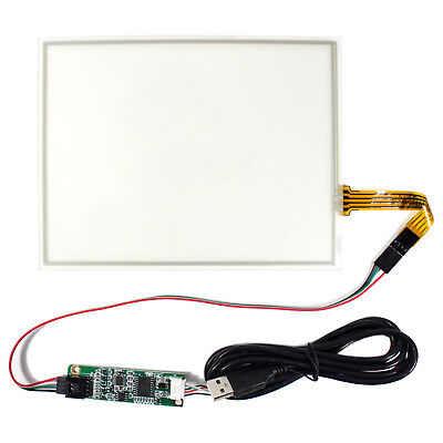 8 4 Wire Resistive Lcd Touch Panel With Usb Controller Card For 43 Lcd Screen