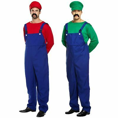 io AND Luigi Workmen Couples Fancy Dress Costumes Outfits (Mario Luigi Outfits)