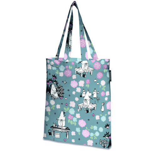 Moomin Tote Bag with Twill Linning Grey 45 x 42 cm Finlayson