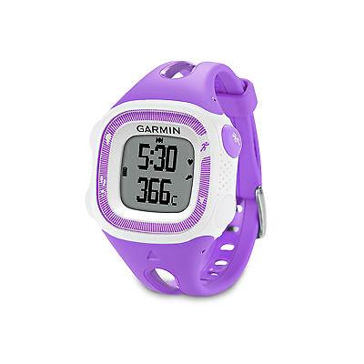 Garmin Forerunner 15 Violet White Gps Running Watch   010 01241 21   Brand New