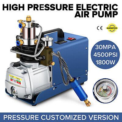 30mpa High Pressure Air Compressor Pump 110v Pcp 4500psi 80lmin Auto Shut
