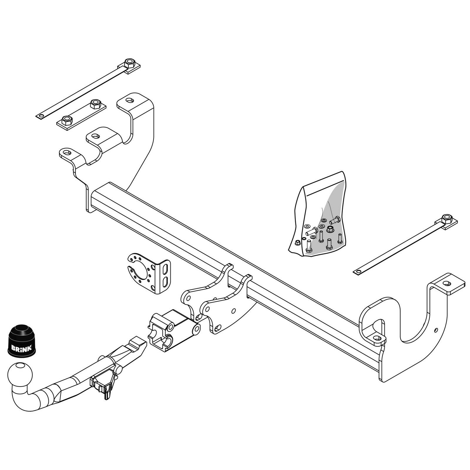 Brink Towbar For Suzuki Jimny 1998 2018 Detachable Tow Bar Ebay