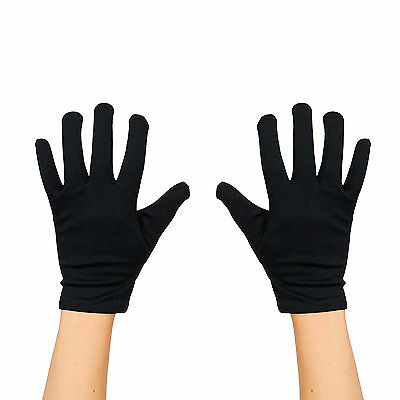 Kids Fancy Dress Plain Gloves For Costume, Mime, Drama, Magic Magician - - Black Gloves For Kids