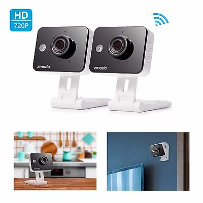 Zmodo 2 Mini 720p HD IP Network WiFi Indoor Cameras With Two-Way Audio
