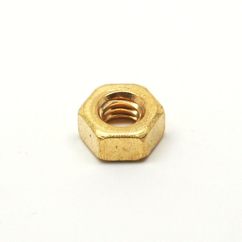 """1/4""""-20 Finish Hex Nut - Brass - Select Your Quantity - Wholesale Available"""