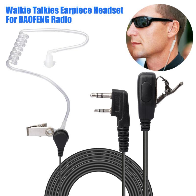 FBI-Style Security Walkie Talkies Mic Earpiece Earbud Earphone for BAOFENG UV-5R